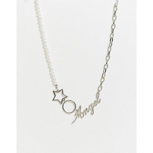 Collier avec pendentif Angel et perles - ASOS DESIGN - Modalova