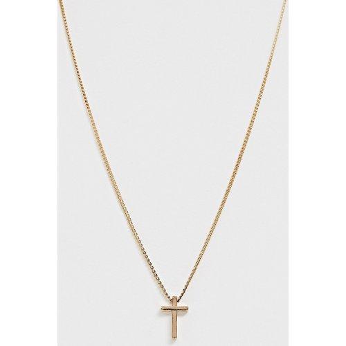 Collier avec pendentif croix fine - ASOS DESIGN - Modalova