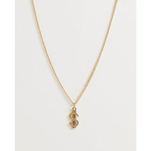 Collier chaîne avec petit pendentif signe dollar - ASOS DESIGN - Modalova
