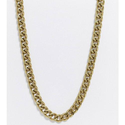 Collier chaîne court chunky 10 mm - Or brûlé - ASOS DESIGN - Modalova