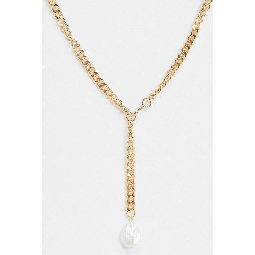 Collier chaîne style lasso avec perle fantaisie - ASOS DESIGN - Modalova