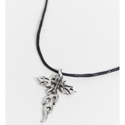 Collier cordon ras de cou 2 mm avec pendentif croix - ASOS DESIGN - Modalova