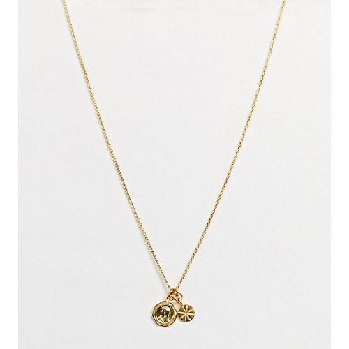 Collier en argent massif plaqué or avec petits pendentifs pièces - ASOS DESIGN - Modalova