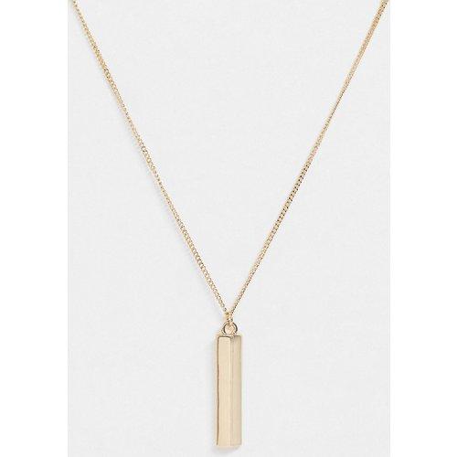 Collier minimaliste avec pendentif barre - ASOS DESIGN - Modalova