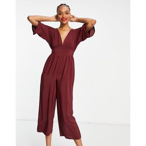 Combinaison jupe-culotte à manches kimono - Bordeaux - ASOS DESIGN - Modalova