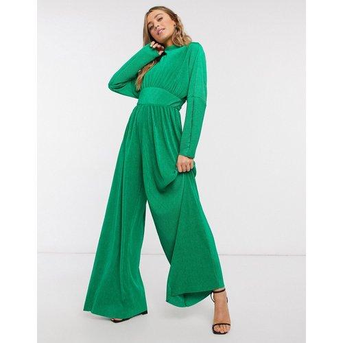 Combinaison large et plissée en jersey avec col montant - pop - ASOS DESIGN - Modalova