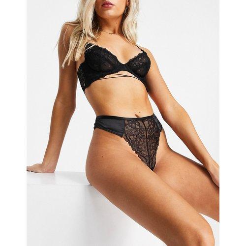 Culotte brésilienne taille haute en satin - ASOS DESIGN - Modalova
