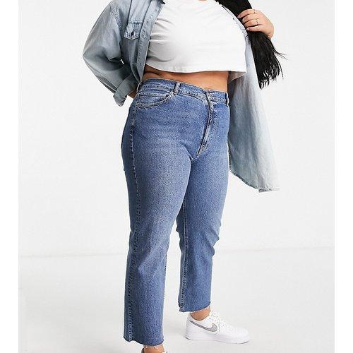 ASOS DESIGN Curve - Effortless - Jean stretch court évasé taille haute - vintage moyen - ASOS Curve - Modalova