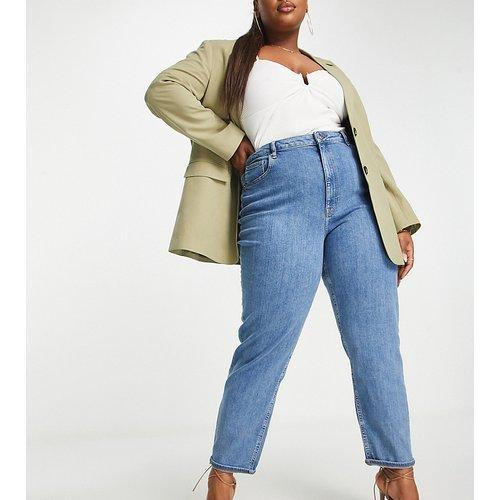 ASOS DESIGN Curve - Farleigh - Jean mom slim taille haute à délavage moyen - ASOS Curve - Modalova