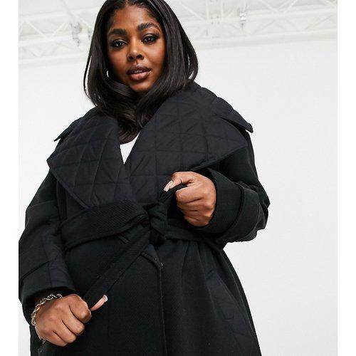 ASOS DESIGN Curve - Hero - Trench-coat matelassé double épaisseur - Noir - ASOS Curve - Modalova