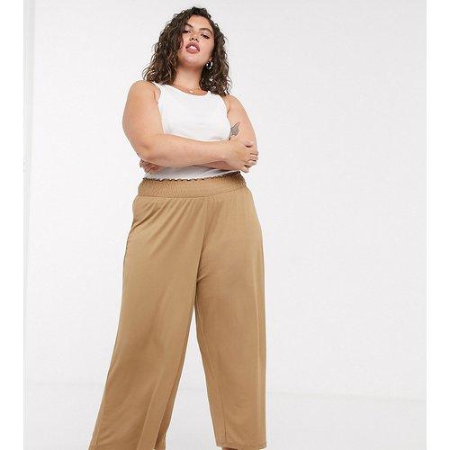 ASOS DESIGN Curve- Jupe-culotte à taille froncée - Sable - ASOS Curve - Modalova