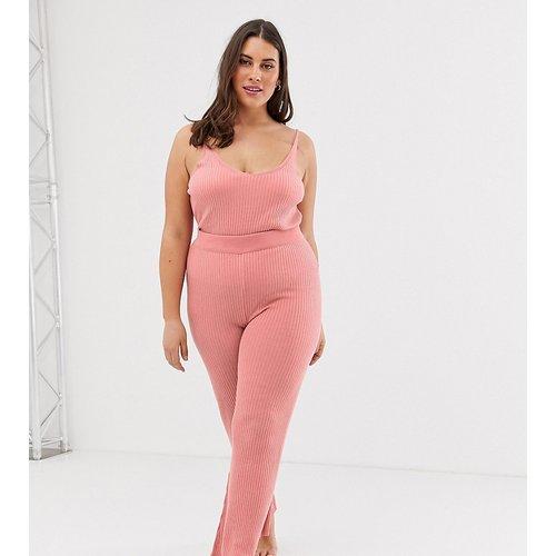 ASOS DESIGN Curve - Pantalon confort large en maille côtelée - ASOS Curve - Modalova