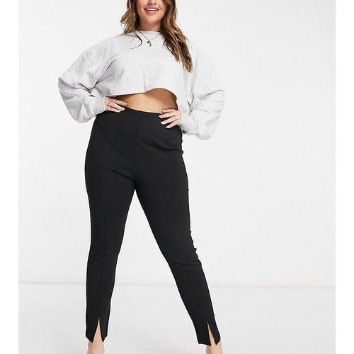 ASOS DESIGN Curve - Pantalon de tailleur slim en jersey fendu sur le devant - ASOS Curve - Modalova