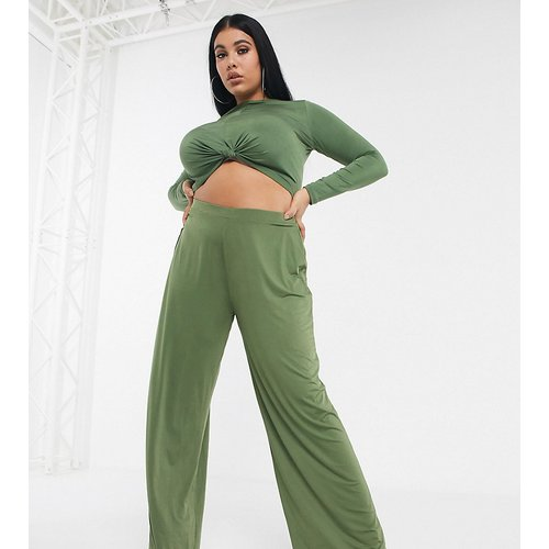ASOS DESIGN Curve - Pantalon large d'ensemble près du corps - ASOS Curve - Modalova
