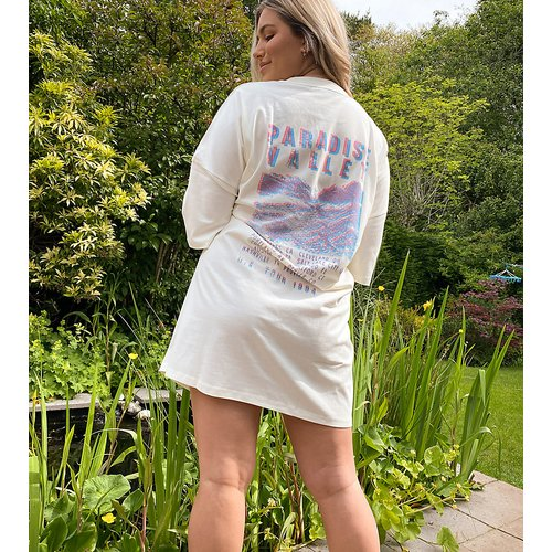 ASOS DESIGN Curve - paradise valley - Robe t-shirt oversize - ASOS Curve - Modalova
