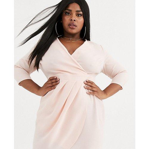 ASOS DESIGN Curve - Robe courte avec jupe portefeuille - ASOS Curve - Modalova