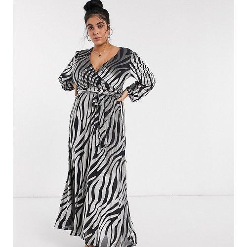 ASOS DESIGN Curve - Robe longue en velours à imprimé zèbre - ASOS Curve - Modalova
