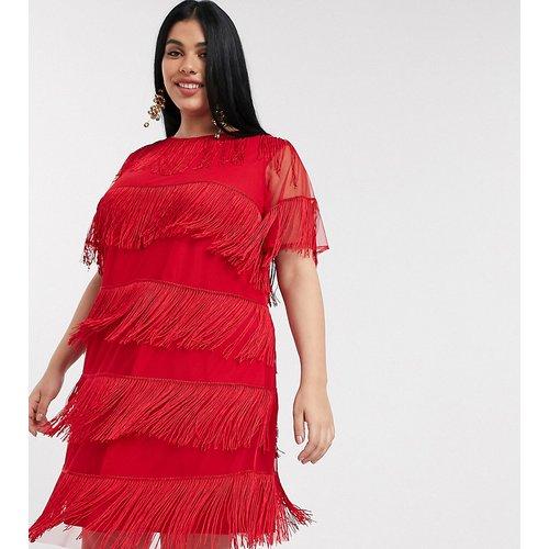 ASOS DESIGN Curve - Robe t-shirt courte à franges - ASOS Curve - Modalova