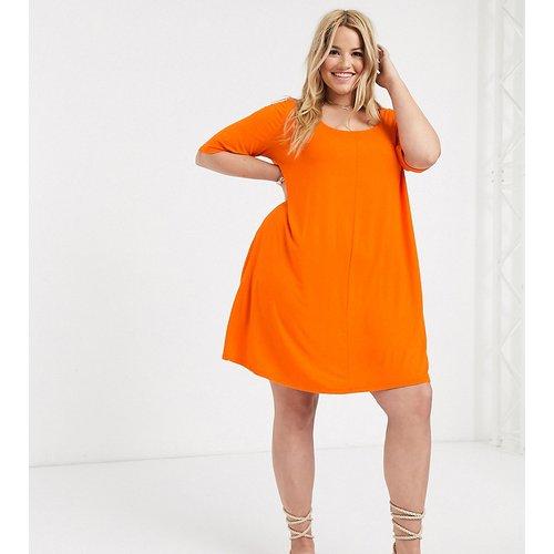 ASOS DESIGN Curve - Robe t-shirt évasée à poches invisibles - ASOS Curve - Modalova