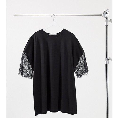 ASOS DESIGN Curve - Robe t-shirt oversize en dentelle - ASOS Curve - Modalova