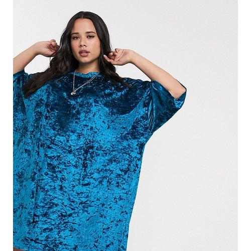 ASOS DESIGN Curve - Robe t-shirt oversize en velours - ASOS Curve - Modalova