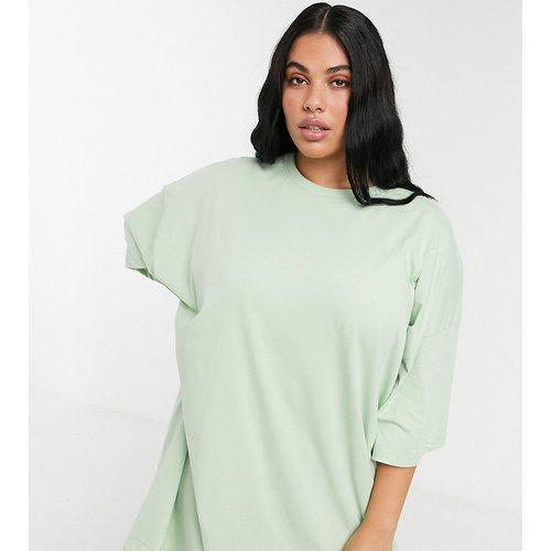 ASOS DESIGN Curve - Robe t-shirt oversize - Sauge - ASOS Curve - Modalova