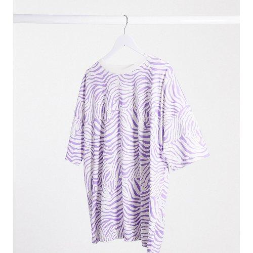 ASOS DESIGN Curve - T-shirt oversize imprimé animal - Lilas - ASOS Curve - Modalova