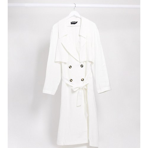 ASOS DESIGN Curve- Trench-coat- Blanc - ASOS Curve - Modalova