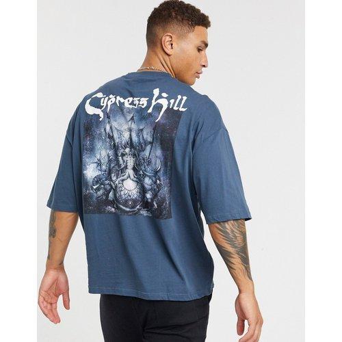 Cypress Hill - T-shirt oversize à imprimé dans le dos - Bleu marine - ASOS DESIGN - Modalova