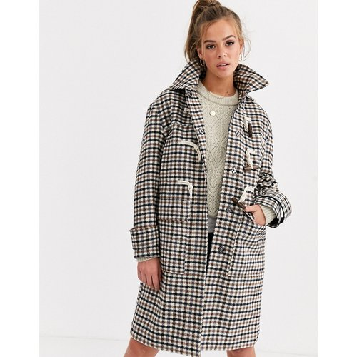 Duffle-coat à carreaux - ASOS DESIGN - Modalova