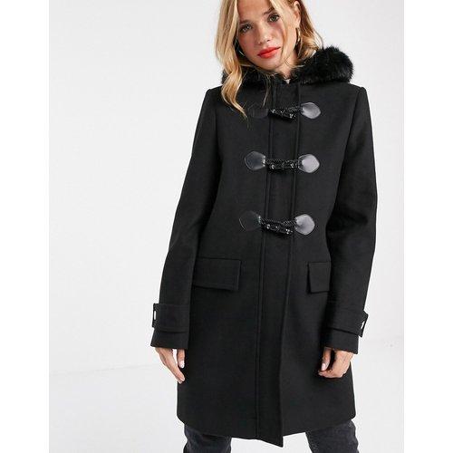 Duffle-coat bordé de fausse fourrure - ASOS DESIGN - Modalova