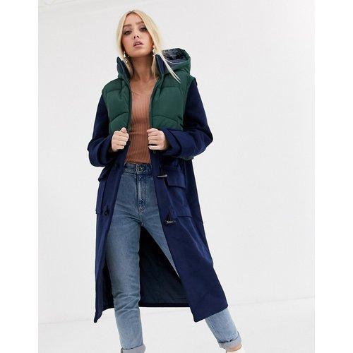 Duffle-coat long avec gilet superposé - marine - ASOS DESIGN - Modalova