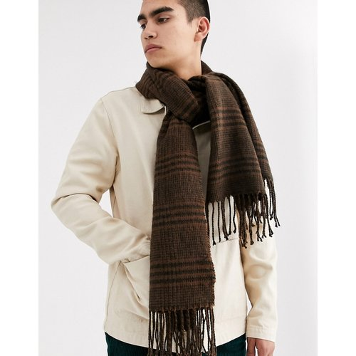 Écharpe-couverture à carreaux avec franges - ASOS DESIGN - Modalova