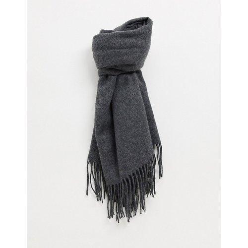 Écharpe frangée oversize en laine mélangée - ASOS DESIGN - Modalova