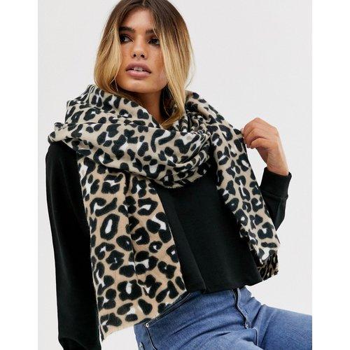 Écharpe longue imprimé léopard - ASOS DESIGN - Modalova