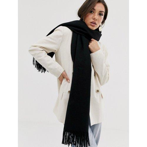 Écharpe oversize en laine à franges - ASOS DESIGN - Modalova