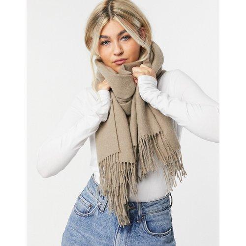 Écharpe oversize en laine mélangée à franges - ASOS DESIGN - Modalova