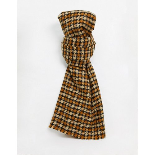Écharpeen tweed à carreaux - ASOS DESIGN - Modalova