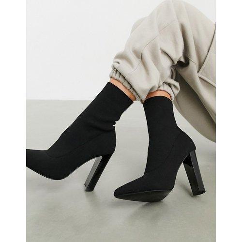 Enhance - Bottines chaussettes en maille à talon carré - ASOS DESIGN - Modalova