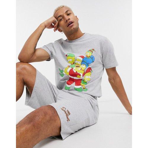 Ensemble de pyjama confort de Noël avec t-shirt et short à imprimé The Simpsons - ASOS DESIGN - Modalova