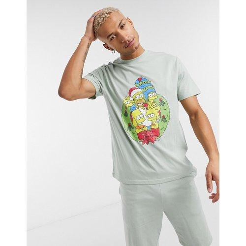 Ensemble de pyjama confort de Noël avec t-shirt et short délavés à imprimé The Simpsons - ASOS DESIGN - Modalova