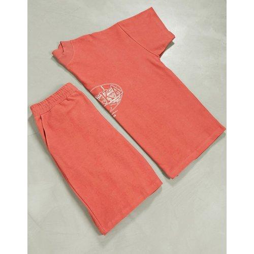 Ensemble pyjama confort avec t-shirt et short et nom de ville OSAKA brodé - ASOS DESIGN - Modalova