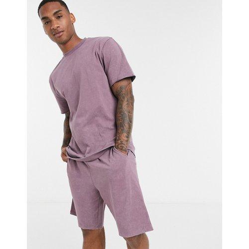 Ensemble pyjama confort avec t-shirt et short - Violet délavé - ASOS DESIGN - Modalova
