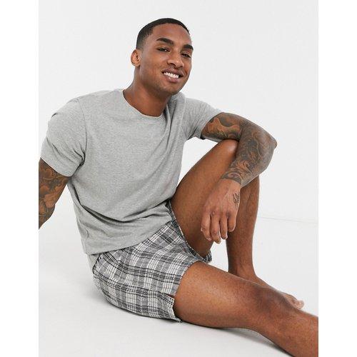 Ensemble pyjama confort t-shirt et short à carreaux tissés - ASOS DESIGN - Modalova