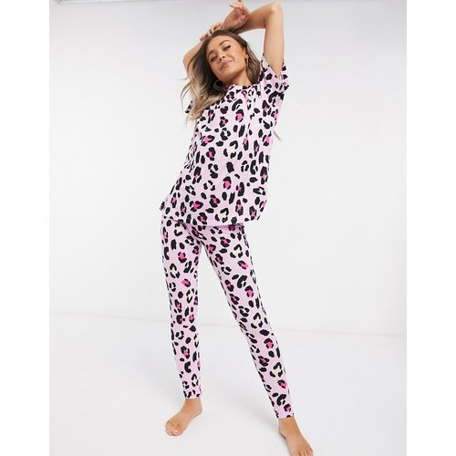 Ensemble t-shirt et pyjama legging - Imprimé léopard - ASOS DESIGN - Modalova
