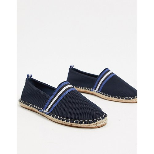 Espadrilles en maille avec ganse fantaisie - Bleu marine - ASOS DESIGN - Modalova