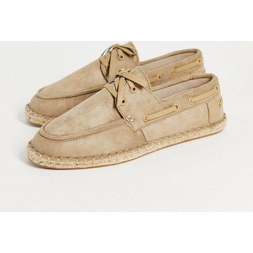 Espadrilles façon chaussures bateau - Taupe - ASOS DESIGN - Modalova