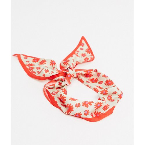 Foulard à fleurs - Orange - ASOS DESIGN - Modalova
