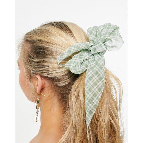 Foulard pour cheveux transparent à carreaux - ASOS DESIGN - Modalova