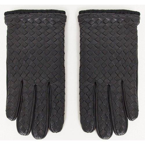 Gants de conduite en cuir avec détails texturés - ASOS DESIGN - Modalova